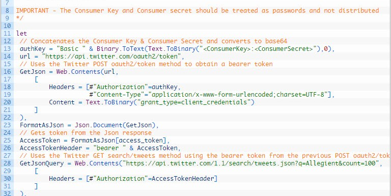 Get Data from Twitter API with Power Query