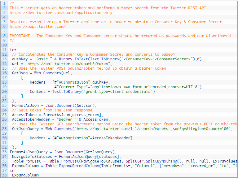 Get Data from Twitter API with Power Query - Chris Koester