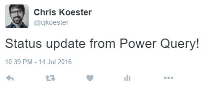 Post to Twitter from Power Query