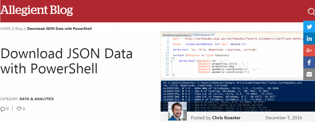 Download JSON Data with PowerShell - Allegient Blog Post