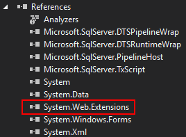 Add Reference to System.Web.Extensions