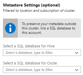 Use Azure SQL DB to store metadata outside the cluster
